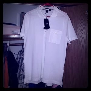 Mens White Polo Shirt!